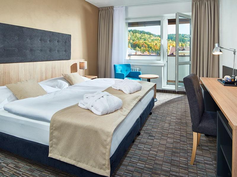 03. Dvoulůžkový pokoj Deluxe hotel Děvín=DZ Deluxe Hotel Děvín